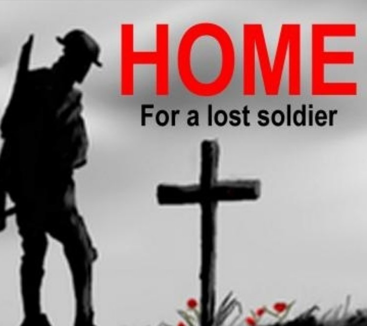HOME For a lost soldier
